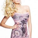 lila parlak pullu mini elbise modeli
