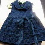 mavi kloş bebek elbisesi