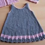 merserize askılı bebek elbisesi