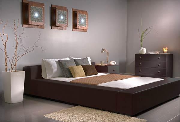 modern deri yatak odası modelleri