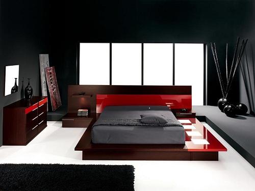 modern yatak odası dizaynı