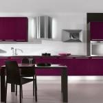 mor renkli hazır mutfak modelleri