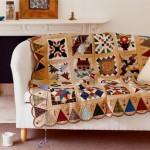 patchwork kırkyama koltuk şalı modelleri