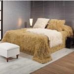peluş yatak örtü örnekleri