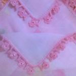 pembe çiçek motifli tığ oya yzmalar
