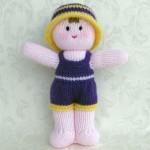 pembe üzeri elbiseli şapkalı kız bebek oyuncak örneği