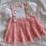 pembe en güzel tığ işi kız çocuk elbiseleri