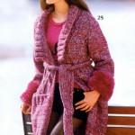 pembe kolları ponponlu örgü ceket modeli örneği