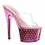pembe topuklu taşlı ayakkabı modelleri