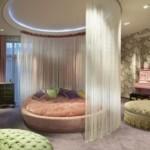 pudra rengi harika yuvarlak yatak örtüsü