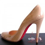 pudra renkli topuklu ayakkabı modeli