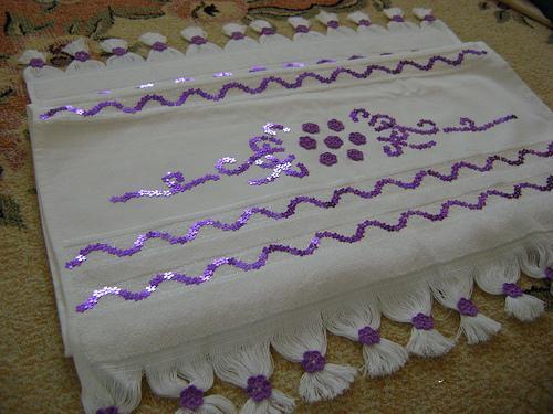 pullu havlu süsleme örnekleri