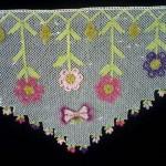 renkli çiçekli göbekli harika uç danteller