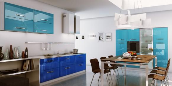 renkli çok hoş hazır mutfak modelleri
