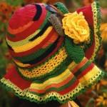 renkli örgü şapka modeli