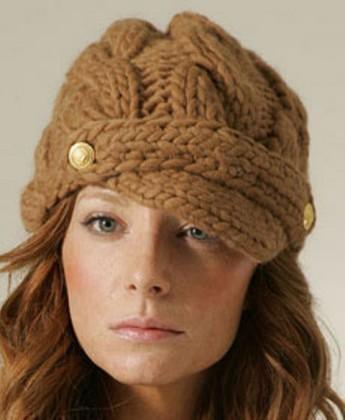 saç örgülü düğmeli şapka modeli