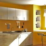 sarı renkli hazır mutfak modelleri