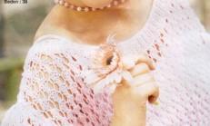 Geniş Yakalı Kalın Lastikli File Bayan Bluz Modeli
