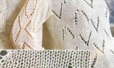 Beyaz Renkli Mevsimli Örgü Bayan Bluz Örneği