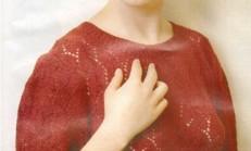 Kırmızı Renkli Ajur Modelli Bayan Bluz Modeli