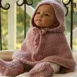 sevimli çocuk örgü panço resimleri