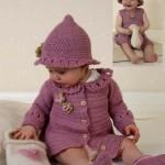 sevimli örgü bebek elbiseleri