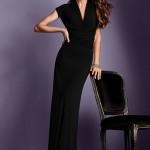 siyah abiye maksi elbise dizaynı