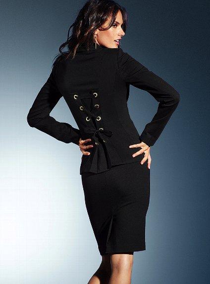 siyah etek ceket takım meodeli