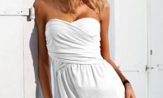 Yazlık Beyaz Elbise Modelleri