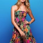 straplez yazlık elbise modeli