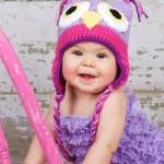 tığ örme rengareng motifli bebek beresi