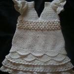 tığ işi şık bebek elbisesi