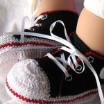 tığ işi bebek converseleri patikleri