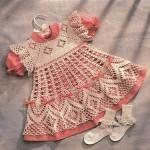 tığ işi harika kız elbiseleri