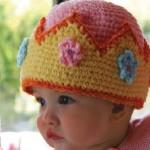 tığ işi rengarenk bebek beresi modeli