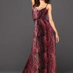 yılan derisi baskılı askılı maksi elbise örnekleri