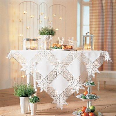 yıldızlı fiskos masa örtü dantel örnekleri