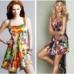 yazlık çiçek desenli elbise modelleri