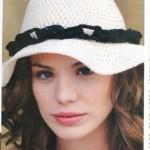 yazlık örgü bayan şapka modelleri