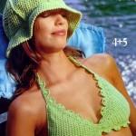 yazlık harika örgü bayan şapkaları