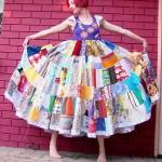 yazlık renkli kırkyama elbise modeli