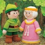 yeşil adam ve pembe kız örgü oyuncak örneği