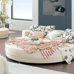 yeni trend yuvarlak yatak örtü örnekleri
