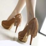 zincirli taşlı ayakkabı modelleri