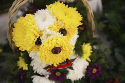 çiçeklerden yaratıcı el becerileri