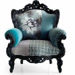 çiçekli oymalı berker koltuk  dizaynı