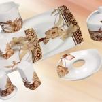 çok şık klasik güral porselen kahvaltı takımı