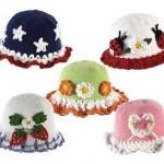çok hoş yeni model bebek şapkaları
