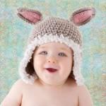 çok sevimli tavşancık bebek şapkası