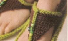 Örgü Parmak Arası Sandalet Modeli
